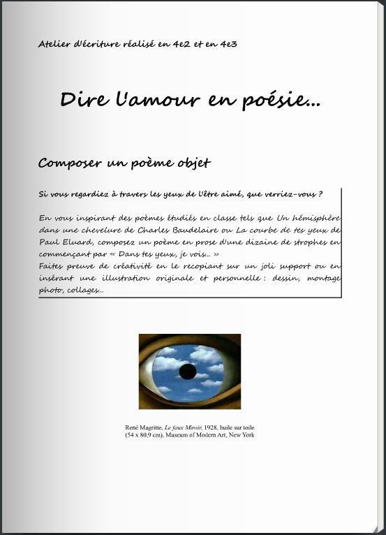 Lire Dire écrire De La Poésie Lycée Et Collège De Liroise